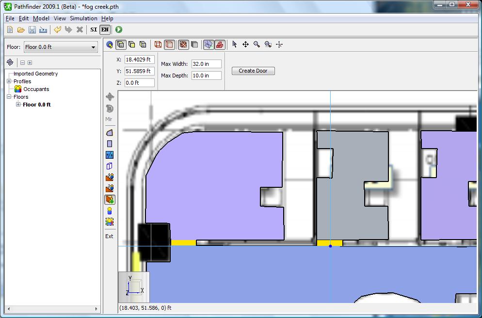 path scrn blueprint add door