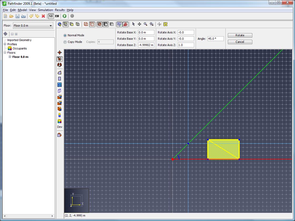 path scrn rotate angle lines