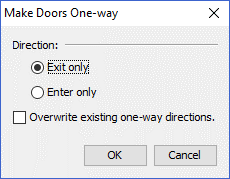 path ui dialog door one way