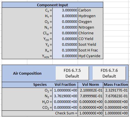 pyro comb spreadsheet input soot