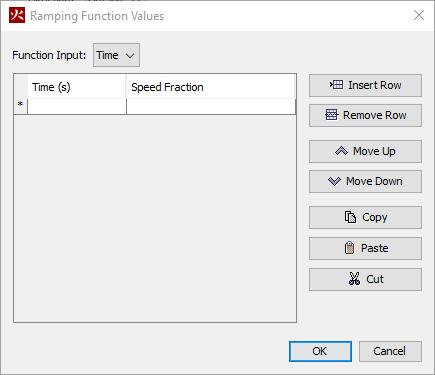 pyro dialog ramping function values