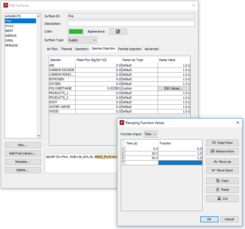 pyro ui dialog compsto ramping function values