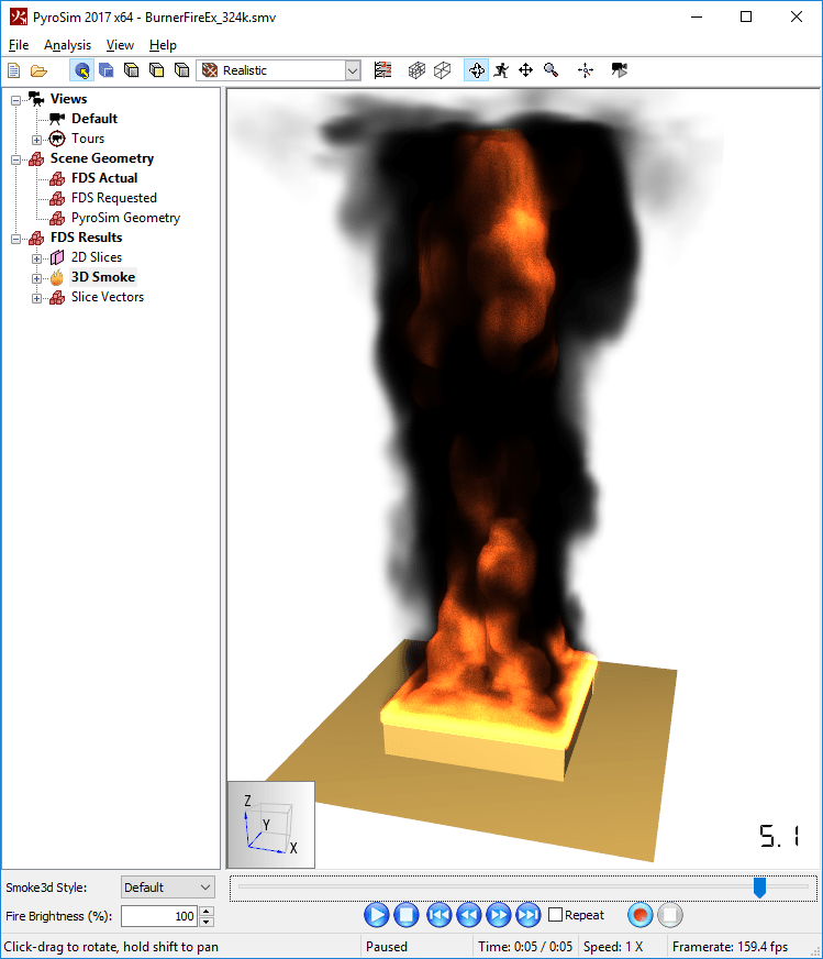 results scrn rendering fire hardware