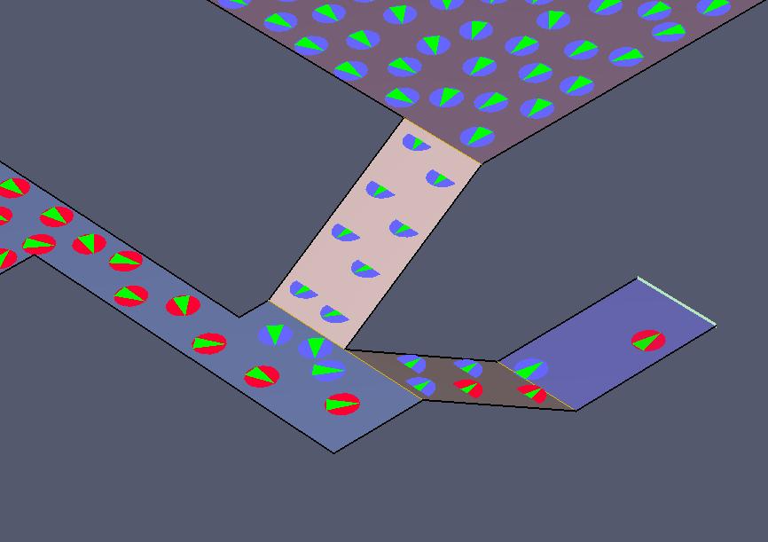 results scrn vnv flow merging stairs adjacent 100cm