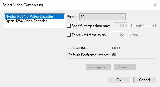 results ui dialog movie compressor nvenc