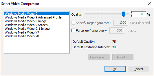 results ui dialog movie compressor