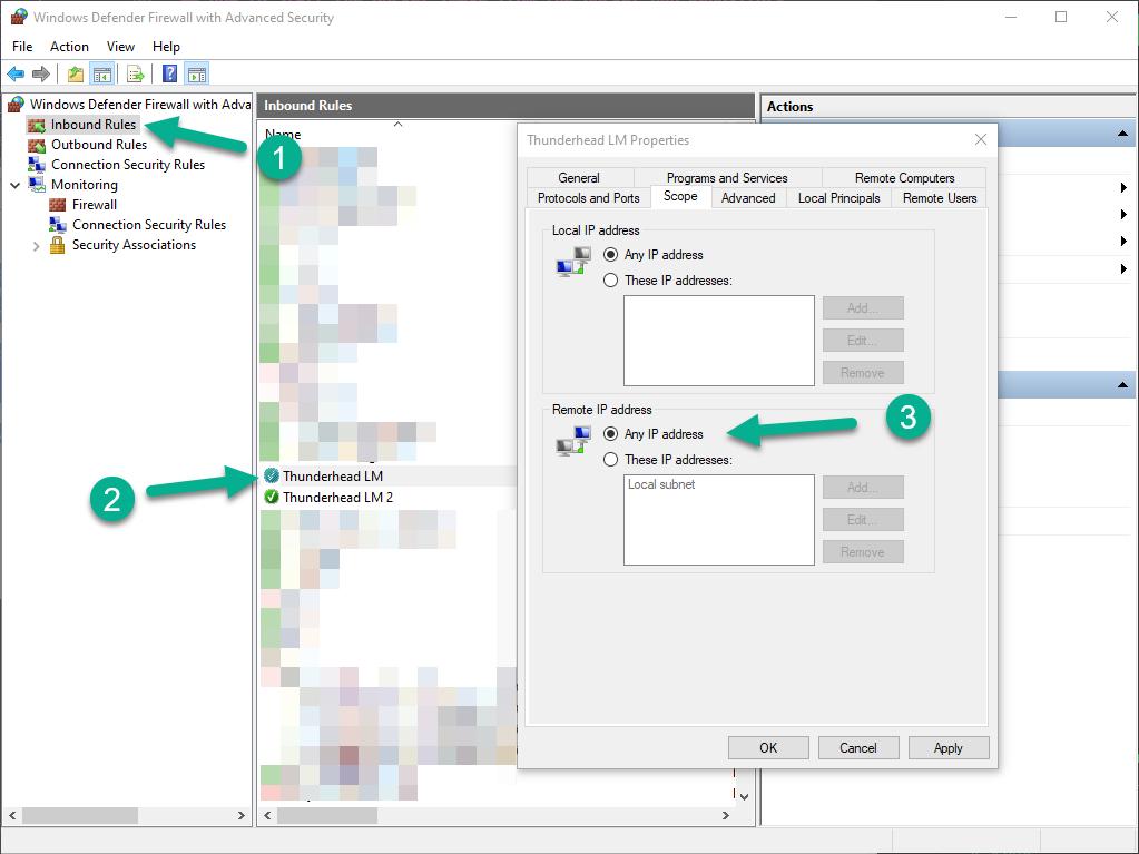 windows ui dialog firewall scope